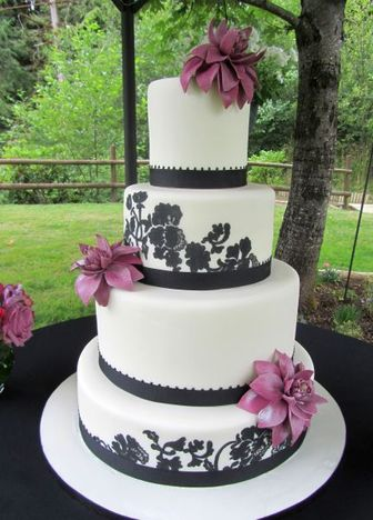 wedding cake bakery the knot black and white wedding cakes the knot a wedding cake 21969